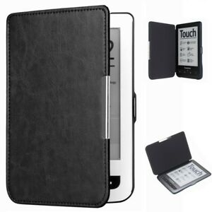 Magnetic Folio PU Leather Case Cover For PocketBook Touch 622/623 e-Book Reader