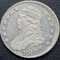 1813 Capped Bust Half Dollar 50c High Grade XF - AU Off Center ERROR #25770