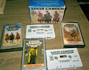 (2) Louis L'Amour Books on Cassette  - Riding For The Brand / Four-Card Draw