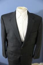 JOS A BANK SIGNATURE GOLD Suit 43R Charcoal Gray 100% Wool