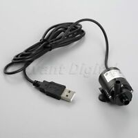 Mini DC 4-6V Brushless Water Pump Amphibious Motor Low Noise w/ USB Interface