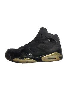 Air Jordan Flight Club 91 Black/Gold Basketball Shoes Men (Size: 13) 555475-031