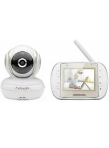 "Motorola MBP30A 3"" Video Baby Monitor - White #6025555b BRAND NEW"