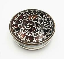 More details for fine georgian pique topped old sheffield plate snuff box c1760