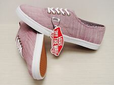 Vans Authentic Lo Pro Floral Chambray Burgundy VN000XRNIDZ Women's Size 9