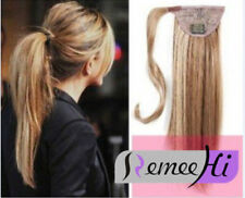 Women Straight Wrap- Ponytail 100% Real Remy Human Hair Ponytail Extensions 80g