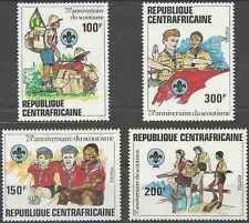Timbres Scoutisme Centrafrique 491/4 ** lot 19614