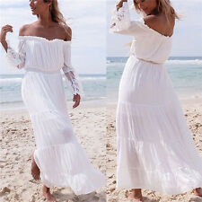 Summer Womens Boho Long Maxi Dress Evening Cocktail Party Beach Dresses Sundress