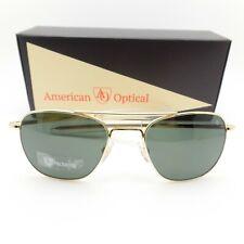 AO American Optical Original Pilot 52 Gold Green Nylon Polar Bayonet Sunglasses
