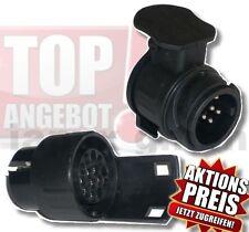 2 Stück Anhänger Adapter Stecker 13/7 + 7/13 polig Anschluss 13 auf 7 + 7 auf 13