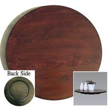 21-in Diameter Dark Brown Mdf Rotating Turntable Lazy Susan - 360 Degree Swivel