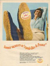 Publicité 1971  Chaussures Espadrille de France collection mode