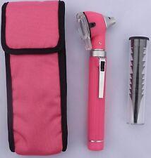 Fiber Optic Mini Otoscope, Bright & Whitest LED illumination, Pink Color