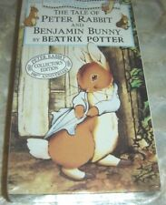 The Tale of Peter Rabbit and Benjamin Bunny Beatrix Potter VHS 1993 NEW