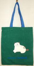New 100% Cotton Girls Tote Bag Holdall Party Handbag Shopping Green Blue
