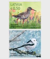 Birds mnh set of 2 stamps 2018 Latvia