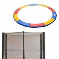 HOMCOM 10FT TRAMPOLINE PAD THICK SURROUND FOAM PADDING + SAFETY NET Tri-Colour