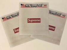 SUPREME x NEW YORK POST NEWSPAPER PROMOTIONAL LOOK BOOK BOX LOGO COVER FW 2018