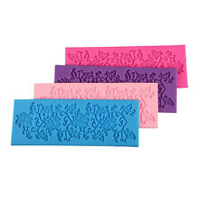 Lace Silicone Mold Mould Sugar Craft Fondant Mat Cake Decorating Baking Tool WB