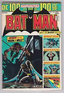 Batman #255 F+ 6.5 Batman Family Batgirl Robin Neal Adams Art 100 Pages 1974!