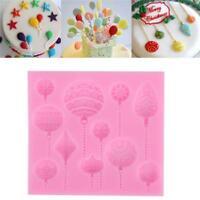DIY Silicone Cake Fondant Mold Chocolate Balloon Baking Mould Decor Sugarcraft W