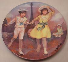Patinage Au Trocadero by Bernard Paltriaux Limoges Collectors Plate 1985
