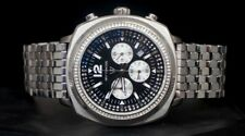 NEW MEN'S WITTNAUER WN3061 CHRONOGRAPH QUARTZ DATE STAINLESS SWAROVSKI WATCH