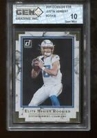 Justin Herbert RC 2020 Donruss Elite #JH Chargers Rookie GEM MINT 10