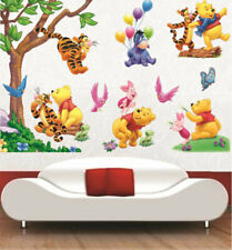 Winnie The Pooh Tree Tiger Pig Wall Decal Kids Nursery Decor Baby Cot Sticker