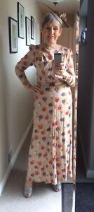 1930s Elegant Full Length Evening Dress