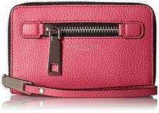 AUTH Marc Jacobs Purse Pebble Leather Gotham Zip Cell iPhone Wristlet Case Bag