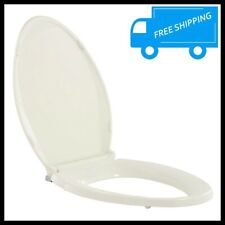 Biscuit Elongated Toilet Seat Closed Front Slow Close Lid Grip Tight Bowl Cover