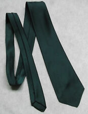 TOOTAL BOYS TIE DARK FOREST GREEN VINTAGE 1960'S 1970''S MINI MOD AGE 8-14