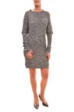 For Love & Lemons Women's Knitz Long Sleeve Dress Grey RRP$180 BCF712