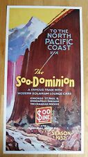 Vintage Poster Reprint Canadian Pacific Soo-Dominion 1932