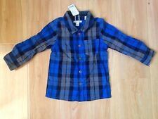 NWT Esprit Baby Toddler Boys Multi Check Formal Shirt Tops Blue Size 2 (K27)