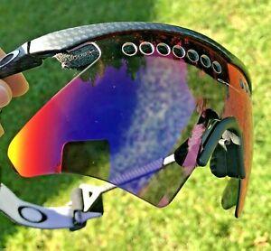 Oakley M-Frame Slash Gen 2 Sunglasses Carbon Fiber Positive + Red Iridium 06-267