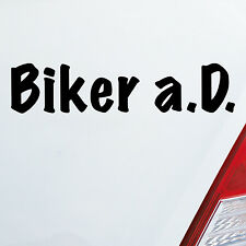 Auto Aufkleber BIKER a.D. außer Dienst Motorrad Bike Sticker FUN DUB OEM JDM 943