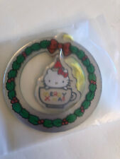 Vintage Sanrio Hello Kitty Mirrored Christmas Ornament~NEW In Package
