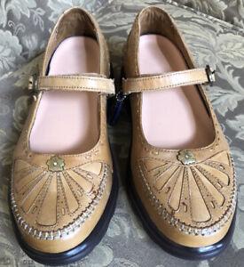 Dr Comfort PARADISE Saddle Tan/ Brown Diabetic Mary Jane Shoes Women Sz 7 M