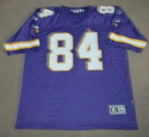 NWOT Vtg Randy Moss Minnesota Vikings Starter NFL Football Jersey 2XL 54