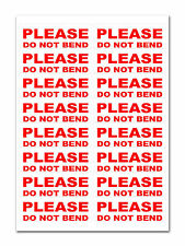 160 - PLEASE DO NOT BEND - Large Labels / Stickers