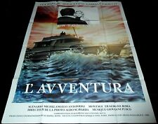 1960 L'avventura ORIGINAL FRENCH POSTER Michelangelo Antonioni Monica Vitti