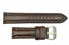 Luminox F-22 Raptor 9247 24mm Brown Leather watch Band Strap W/Ivory Stitches
