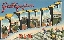 GREETINGS FROM DOTHAN ALABAMA - CURTEICH - ORIGINAL LARGE LETTER POSTCARD