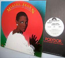 MIQUEL BROWN Symphony of Love LP WHITE LABEL PROMO excellent vinyl condition