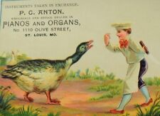 1880's P. C Anton Pianos & Organs Chef Knife Giant Duck Bird P71