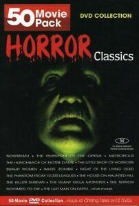 Horror Classics 50 Movie Pack (DVD, 2004, 12-Disc Set)