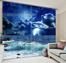 3D Bule Clouds Blockout Photo Curtain Printing Curtains Drapes Fabric Window AU