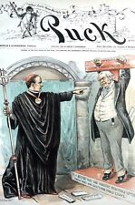 Administrative Customs Act 1890 McKINLEY REPUBLICAN INQUISITION IMPORT TAX Puck